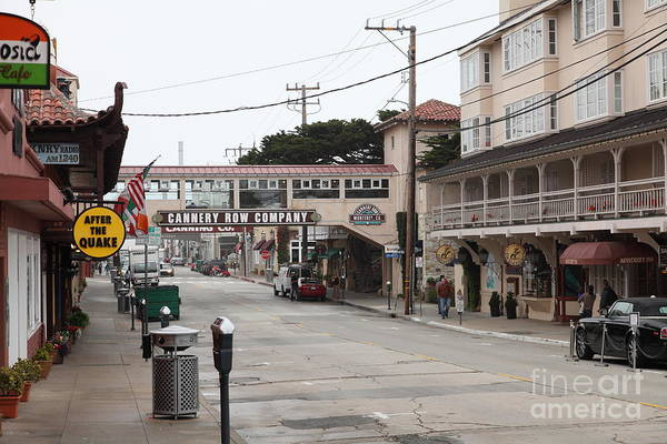 Calm Morning At Monterey Cannery Row California 5d24777 Poster