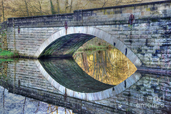 Calver Bridge Reflection Poster