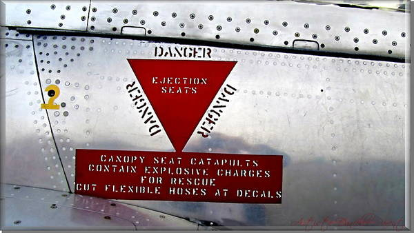 Canadair Ct-114 Tutor Danger  Ejection Seats Poster