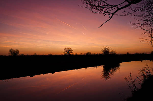 Canal At Dawn Poster
