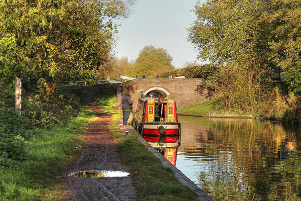 Canal Boat At Compton Lock Poster