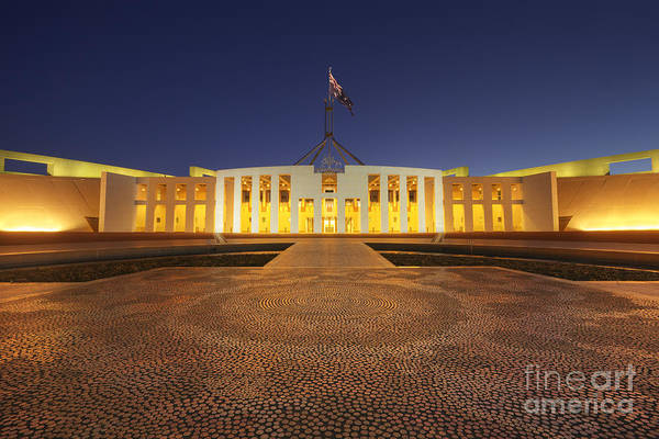 Canberra Australia Parliament House Twilight Poster