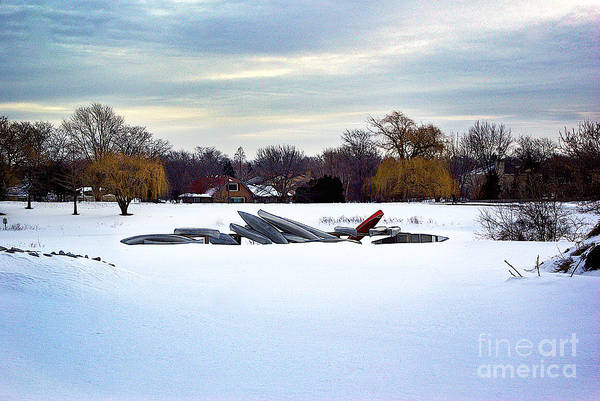 Canoes In The Snow Poster