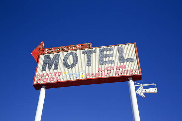 Poster featuring the photograph Canyon Motel Sign by Gigi Ebert