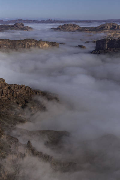 Canyon Rims Float In Fog Poster