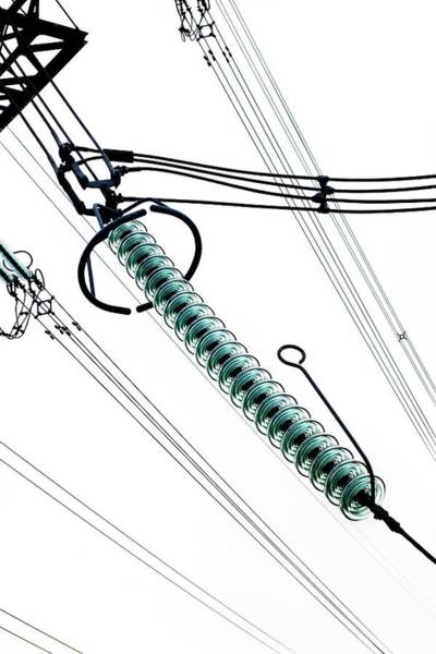 Cap And Pin Glass Insulator String Poster