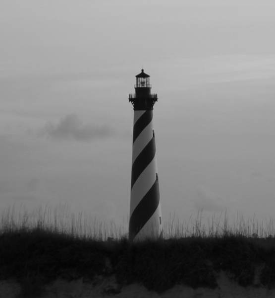 Cape Hatteras Lighthouse Black And White 2 Poster