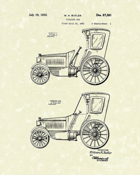 Car 1932 Patent Art Poster