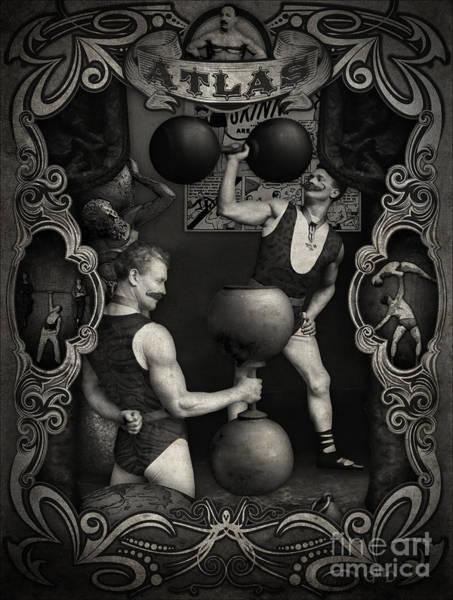 Carnival Banner - Atlas The Strong Man Poster