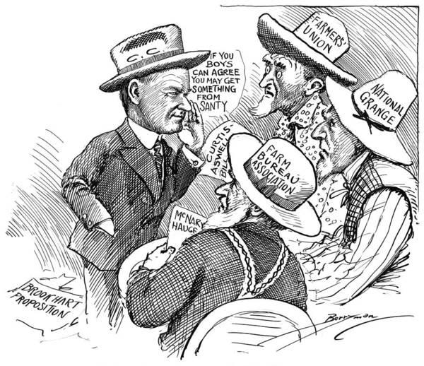 Cartoon Farm Relief, 1927 Poster