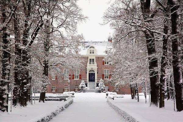 Castle In Winter Dress  Poster