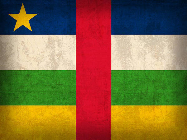 Central African Republic Flag Vintage Distressed Finish Poster
