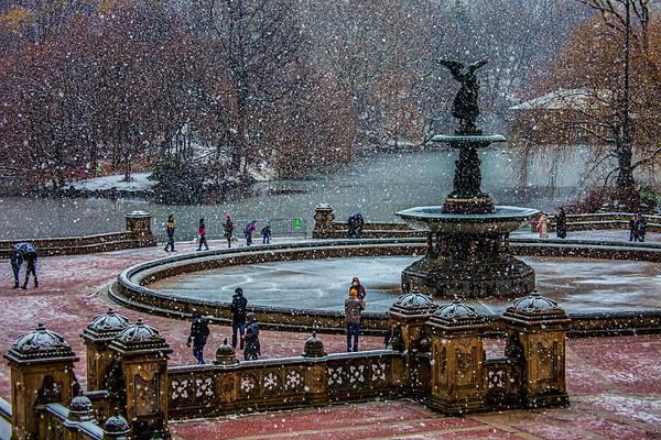 Central Park Snow Storm Poster