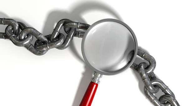 Chain Missing Link Magnifying Glass Poster