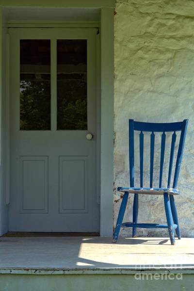 Chair On Farmhouse Porch Poster