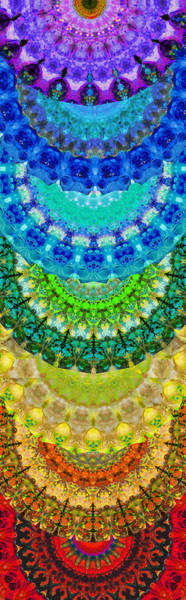 Chakra Mandala Healing Art By Sharon Cummings Poster