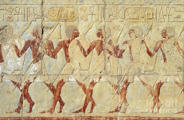 Chapel Of Hathor Hatshepsut Nubian Procession Soldiers - Digital Image -fine Art Print-ancient Egypt Poster