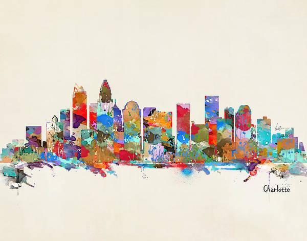 Charlotte Skyline North Carolina Poster
