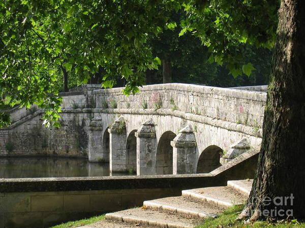 Chateau Chambord Bridge Poster