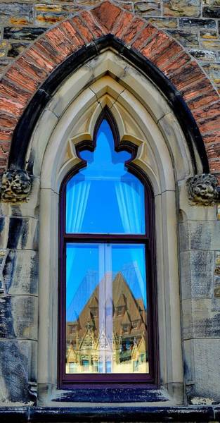 Chateau Laurier - Parlaiment Window - Reflection # 6 Poster