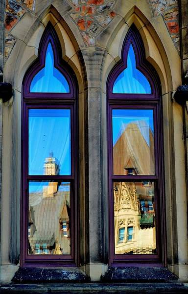 Chateau Laurier - Parlaiment Window - Reflection # 1 Poster