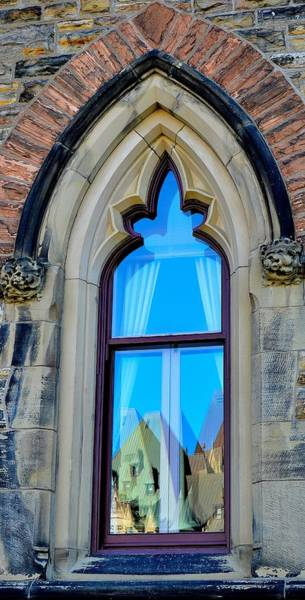 Chateau Laurier - Parlaiment Window - Reflection # 5 Poster