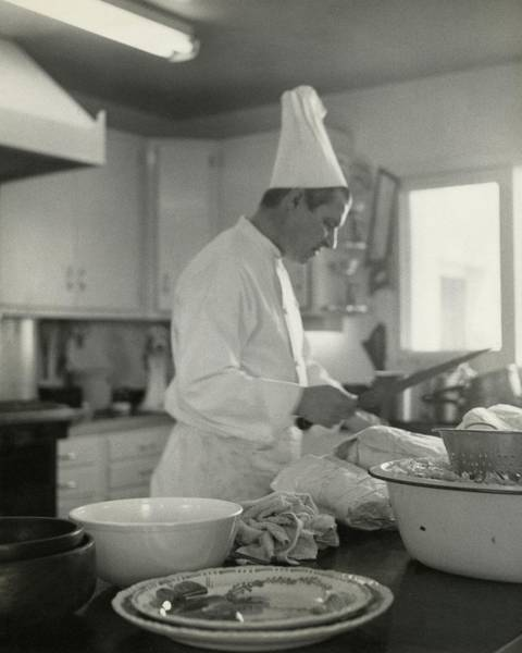 Chef Cooking At Elizabeth Arden's Maine Chance Poster