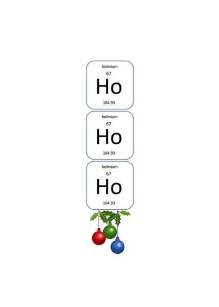 Chemistry - Ho Ho Ho Bell Pull Poster