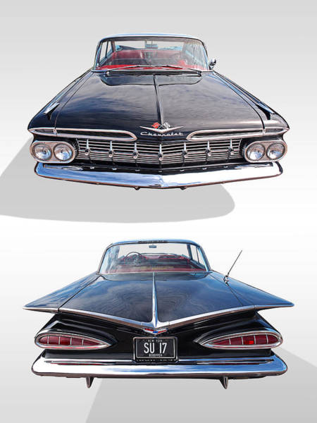 Chevrolet Impala 1959 Front And Rear Poster