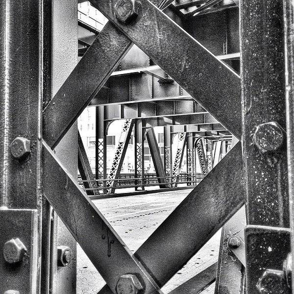 Chicago Bridge Iron In Black And White Poster