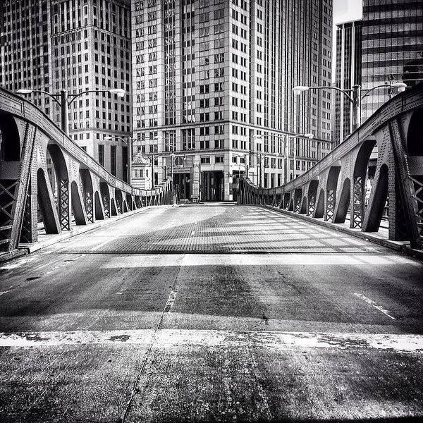#chicago #hdr #bridge #blackandwhite Poster