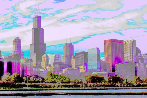 Chicago Skyline 2014 Poster