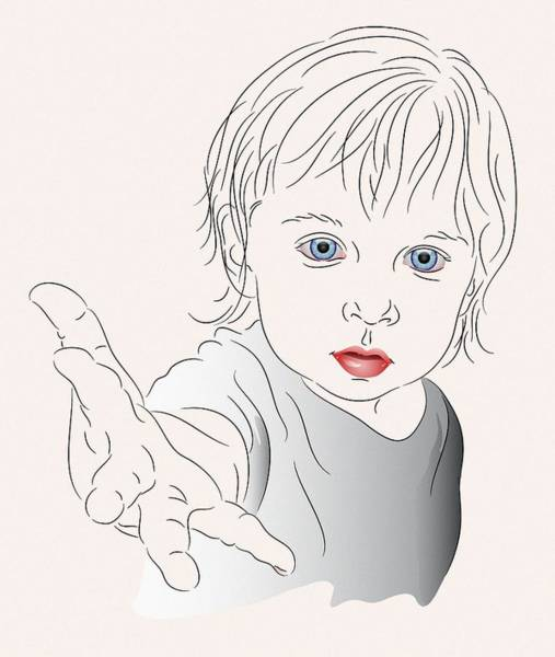 Child With Outstretched Hand Poster