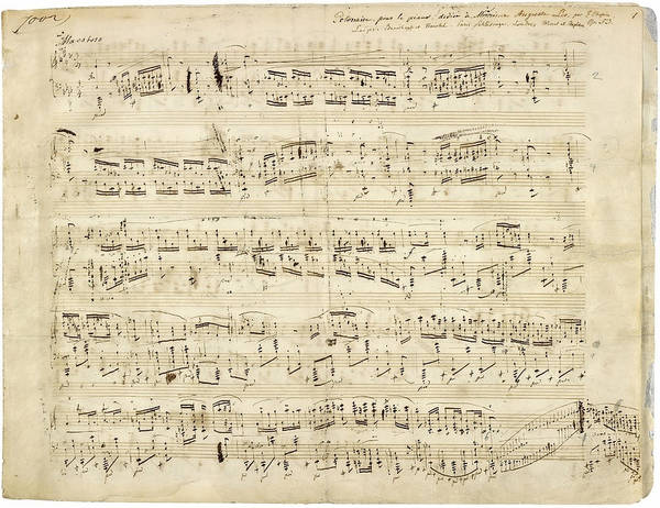 Chopin Polonaise Op 53 Poster