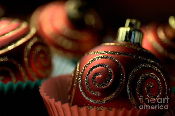 Christmas Bauble Cupcakes Poster