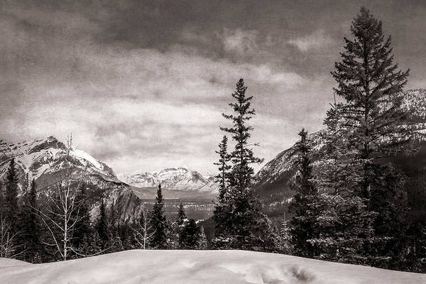 Christmas Day In Banff Bw Poster