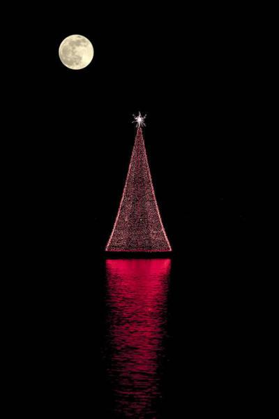 Christmas Full Moon Poster
