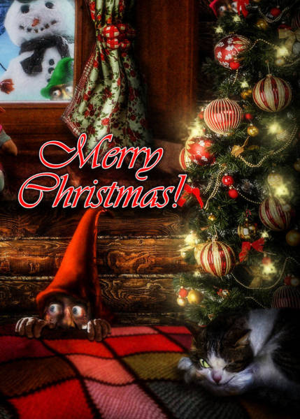 Christmas Greeting Card Viii Poster