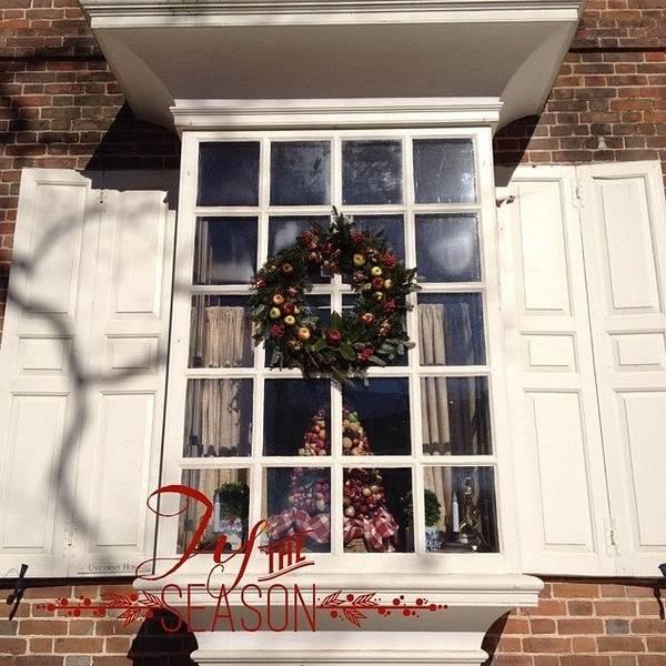 #christmas In #williamsburg #lovely Poster
