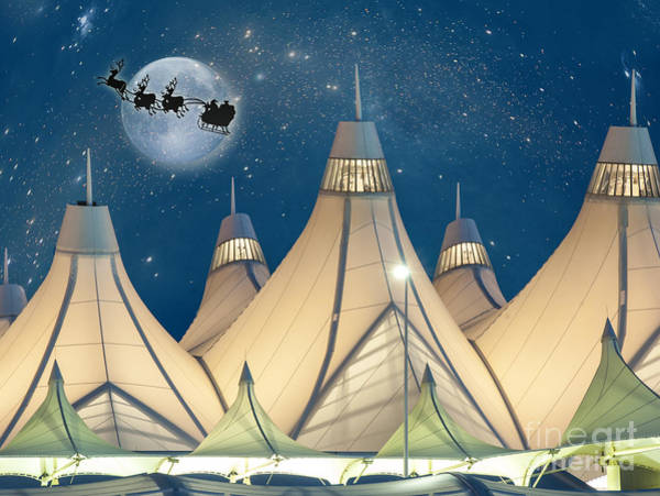 Christmas Night At Denver International Airport Poster