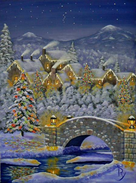 Christmas Village Poster