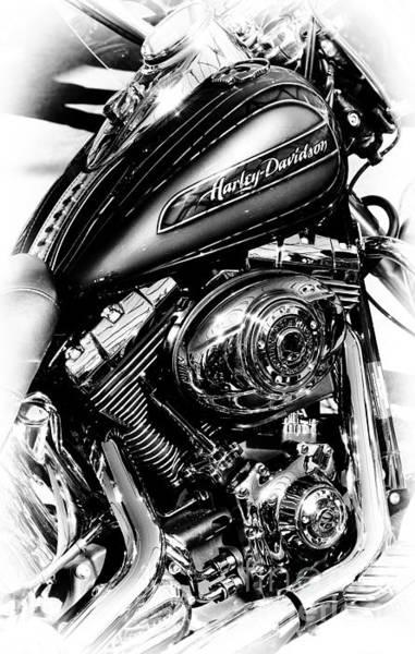 Chromed Harley Monochrome Poster