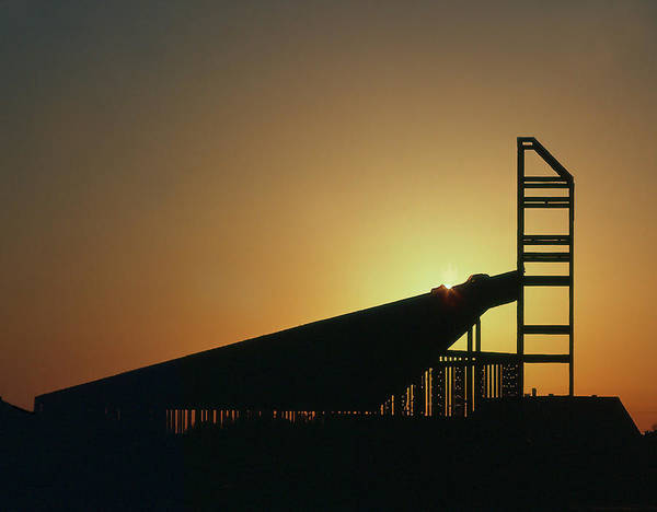 Church Structure At Sunrise Poster