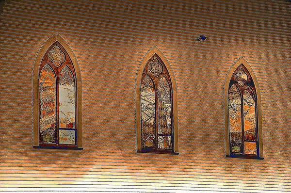 Church Windows Poster