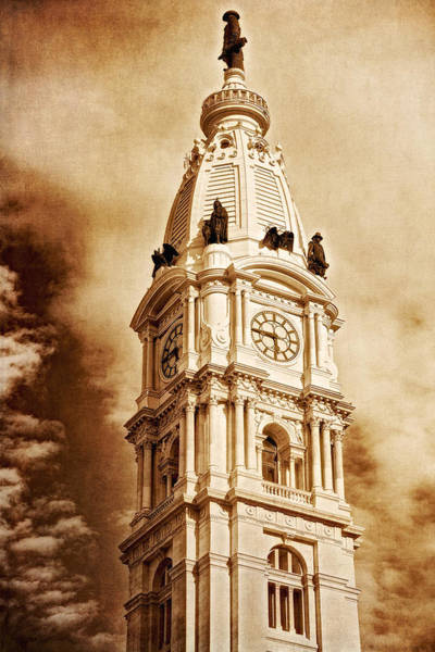 Tower Of City Hall - Downtown Philadelphia - One Penn Square Poster