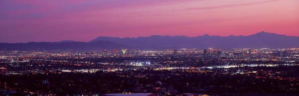 Cityscape At Sunset, Phoenix, Maricopa Poster