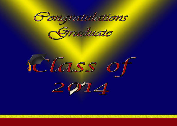 Class Of 2014 Card Poster