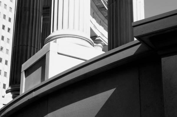 Classical Architectural Columns Black White Poster