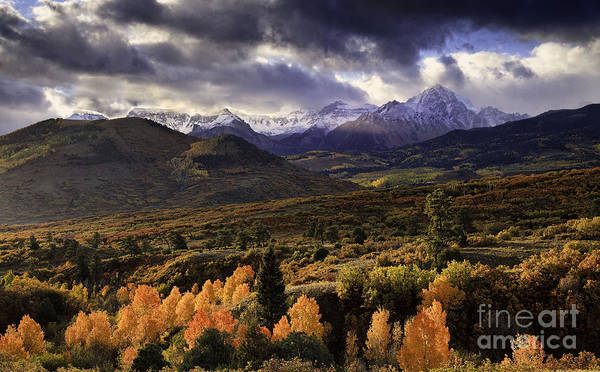 Clearing Storm The Sneffels Range Poster