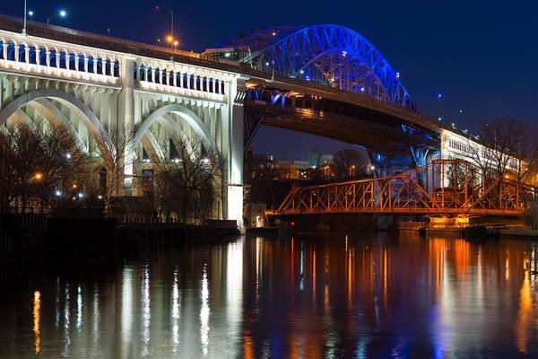 Cleveland Bridge Reflections Poster